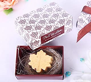 cute rabbit Fall in Love Scented Leaf-Shaped Soaps - Baby Shower Gifts & Wedding Favors, Set of 24