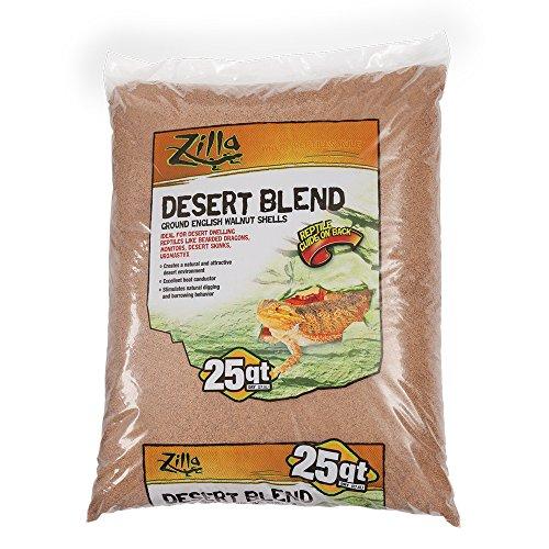 Zilla 11763 Ground English Walnut Shells Desert Blend, 25-Quart Bag,Black