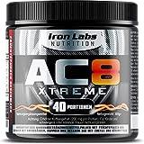 AC8 Xtreme | HARDCORE Pre Workout Booster Nahrungsergänzungsmittel | MAXIMUM STRENGTH Pre-Workout Booster, 20-40 Portionen | 300 g (Frucht-Punsch)
