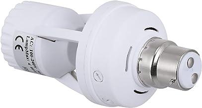 FRCOLOR PIR Motion Sensor Light Socket E27 Bulb Holder B22/ E27 Smart Lamp Bulb Holder Adapter for Basement Pantry Room St...