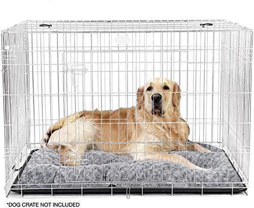 DRKFOP Cama grande para perro (102 x 70 cm) Ultra suave, colchón de felpa premium para mascotas de tamaño mediano o grande, se puede utilizar para cajón de perro. Lavable a máquina y secadora.