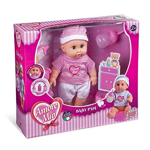 Grandi Giochi- Amore Mio Baby Pipi con Accessori, Multicolore, GG71104