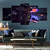 mmkow Mural 5-Piece Set, Video Game Need for Speed, Home Art for Home Decoration 50x100cm (Frameless)