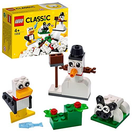 LEGO Classic Mattoncini Bianchi Creativi, Set di Costruzioni per Bambini 4+ Anni con Pupazzo di Neve, Pecora, 11012