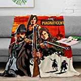 Red Dead Redemption 2 Luxury Microfiber Blanket 50' x 70', Magnificent Artwork Dorm Game Fuzzy Flannel Blanket Throw for Kid Baby Adults or Pet