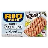 Rio Mare Filetto di Salmone Grigliato Al Naturale, Ricco di Omega 3, 1 Confezione da 125g
