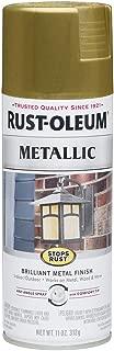 Rust-Oleum 7275830 Stops Rust Metallic Spray Paint, 11 oz, Burnished Brass