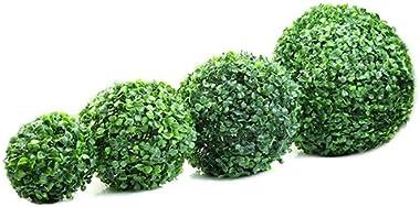 lamta1k Boule de plante artificielle, boule de plante artificielle, buis topiaire, décoration d'intérieur, extérieur, fêt