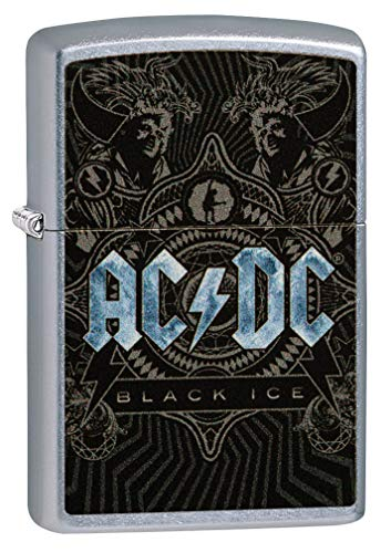Zippo Classic Lighter-AC/DC Feuerzeug, Messing, Individual Design, Original Pocketsize