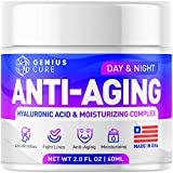 GENIUS Anti Aging Cream for Face - Day & Night Wrinkle Cream - Boosted with Hyaluronic Acid & Vitamin A+E - Natural Firming Cream for Fine Lines & Wrinkles 2oz