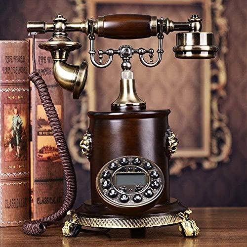 TAIDENG Teléfono Antiguo Teléfono Estilo Europeo Decoración de Madera sólida, Estilo Europeo, Teléfono [Retro], Uso en el hogar, [Creación], Wired-C Home Desk Decor Ornament