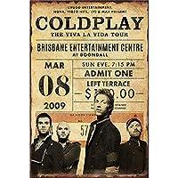 Coldplay The Viva La Vida Tour 金属板ブリキ看板警告サイン注意サイン表示パネル情報サイン金属安全サイン