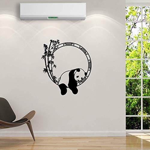 QINDONG Sleeping Panda Wall Pegatina de Pared Dormitorio Salón de Vida Fondo de Pintura Decorativa PVC Ambiental Imágenes (57x63cm)