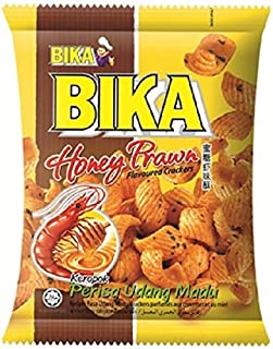 Bika Honey Prawn Crackers Pouch, 70 G, Pack of 3