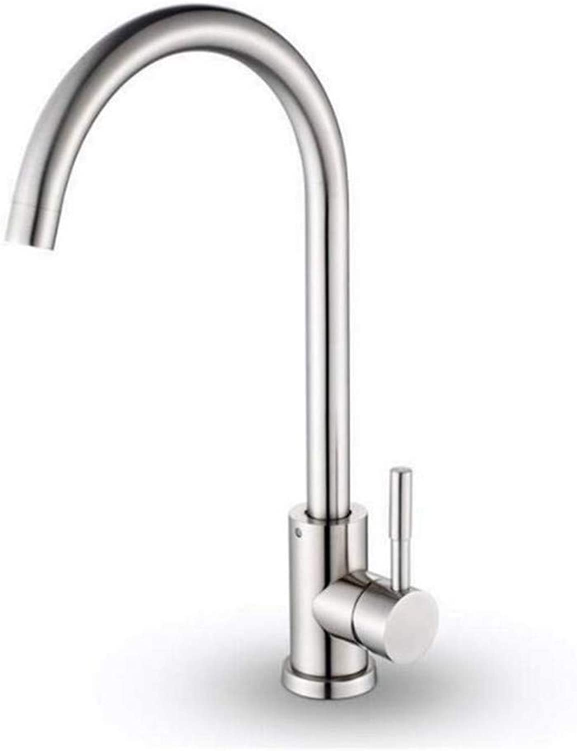 Hot and Cold Vintage Brass Bathroom Kitchen Taps Kitchen Faucet Stainless Steel Cold-Hot Dual-Purpose Single-Hole Faucet