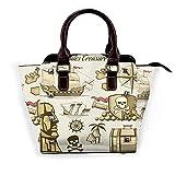 Juluskin Piratas Treasure Set Bolso de trabajo con remaches de compras, bolso de mujer, bolso de varios estilos