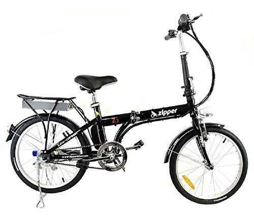 Bicicleta eléctrica plegable compacta Z2, 50cm, color ónix negro