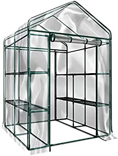 Home-Complete Walk-in Greenhouse- Indoor Outdoor with 8 Sturdy Shelves-Grow Plants, Seedlings, Herbs, or Flowers in Any Se...