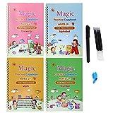écriture calligraphique pour enfants, Cahier de calligraphie réutilisé, Calligraphie magique, Pratique de l'écriture magique pour enfants, Livre de calligraphie magique
