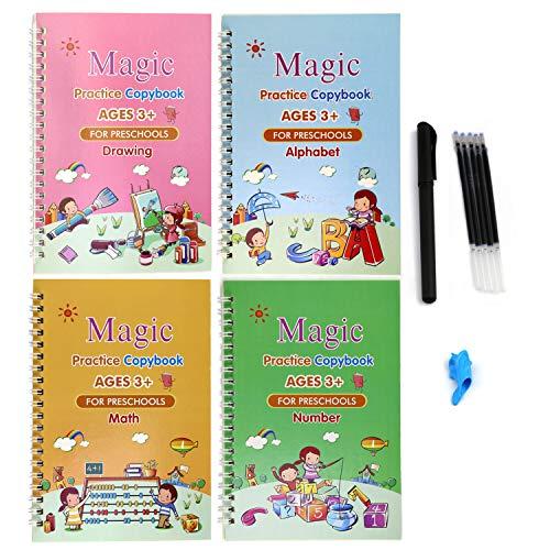 Scrittura calligrafica per bambini, Calligrafia magica, Libro per calligrafia per bambini, Pratica di scrittura magica per bambini, Scrittura a Mano Quaderno Set, Libro magico di calligrafia