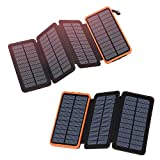 FEELLE Solar Charger 25000mAh-Orange Bundle with Solar Charger 24000mAh-Orange