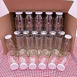 Flaschenbauer - 24 Leere Glasflaschen 250 ml mit Schraubverschluss TO43 0,25l in weiß - Zum selbst befüllen von Milchflaschen, Saftflaschen, Smoothie Flaschen