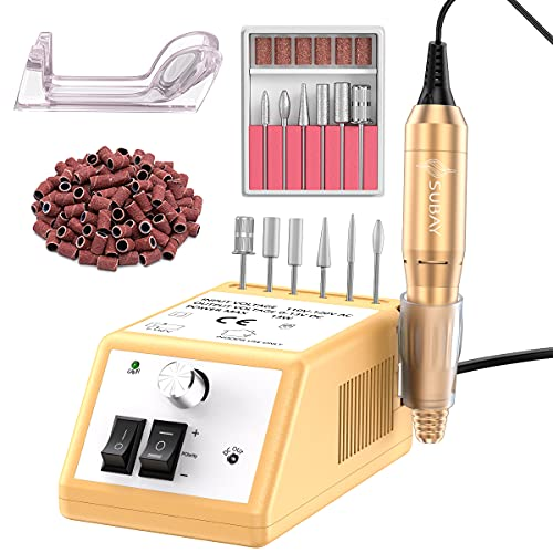 Subay Professional 20,000RPM Nail Drill Machine Kit, Powerful Electric Nail E-File Drill for Acrylic Nails, Gel Nails, Dipping Powder Nails for Salon Home Use
