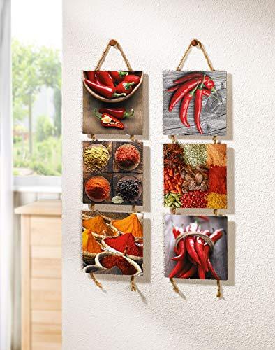 """Decoración de pared para la cocina """"Especias"""", paquete de 2 piezas"""