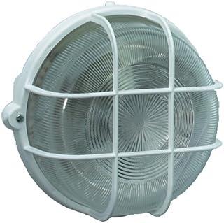 Brennenstuhl 1270720 - Lámpara redonda de pared (IP 44, 100 W), color blanco