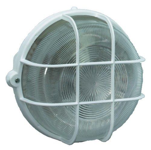 Brennenstuhl 1270720 Lampada rotonda con reticolo plastica di protezione, colore BIANCO, montaggio a soffitto e a parete, (IP 44), diametro 22 cm