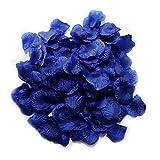 MayaRed 2000 PCS 22 Colors Silk Rose Petals Wedding Flower Decoration Navy Blue Odorless