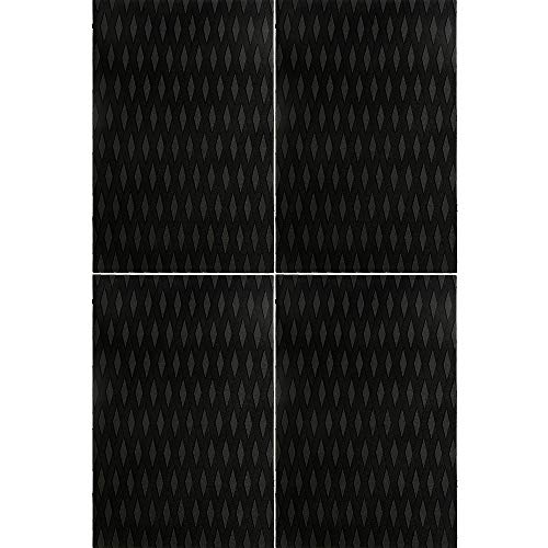 OCEANBROAD 4 Pieces x (15in x 10in) Non-Slip Deck Pad Grip Mat, 3M Adhesive Trimmable EVA Traction Anti-Slip Foam Pad Sheet for Boat Kayak Canoe Yacht Pool Step SUP Board