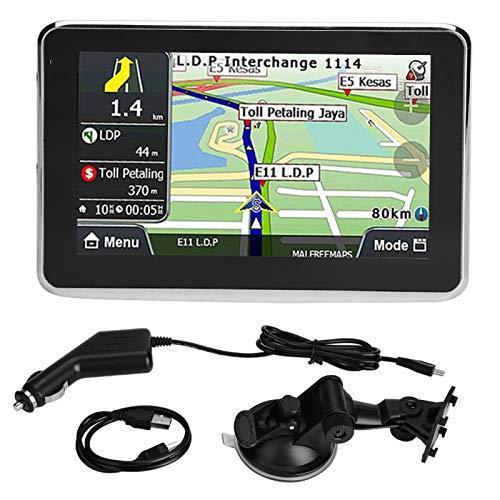 Navegador de Coche con Pantalla táctil portátil Universal 5 Pulgadas Navegador de Coche Navegación GPS DDR256M 8G MP3 FM Mapa de Europa 508