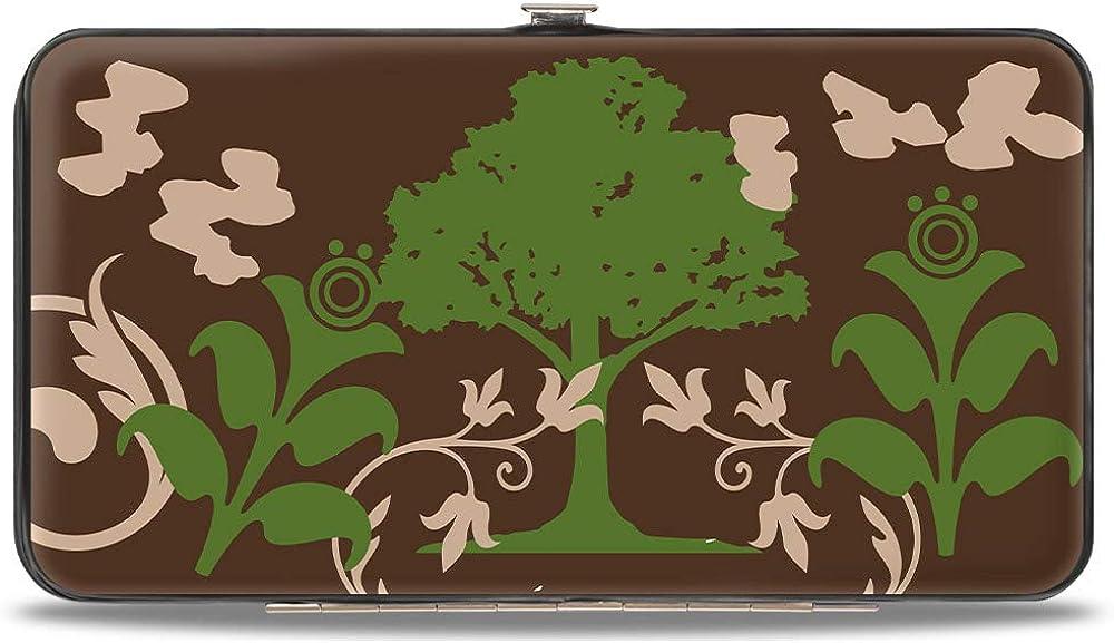 Buckle-Down womens Buckle-down Hinge - Earthy Brown/Green Wallet, Multicolor, 7 x 4 US