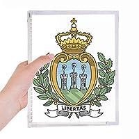 サンマリノのヨーロッパの国家エンブレム 硬質プラスチックルーズリーフノートノート
