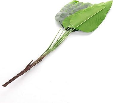 LAMF Plantes tropicales artificielles, fausses feuilles de palmier, pour la maison, la cuisine, les fêtes de mariage, les arr