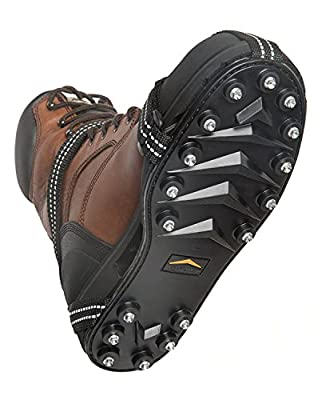 STABILicers Maxx Original Heavy Duty Stabilicers Ice Traction Cleat for Snow and Ice - Traction cleats for Boots and Shoe Ice Cleats X-Small (5-6 Men / 6.5-8 Women) Black