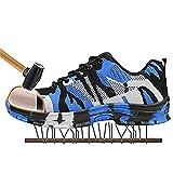 NKJGFV Botas de Camuflaje Hombres Trabajan Zapatos de Seguridad Las Botas del ejército Militar de la Madera Tierra Zapatillas de Deporte de Acero del Dedo del pie Botas Hombre Cap Camouflage Blue 7