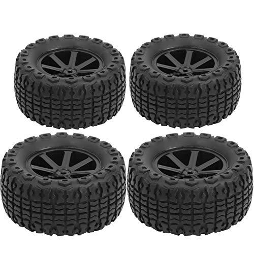SALUTUYA Neumático de camión del Desierto de 4 Uds, Respetuoso con el Medio Ambiente, un Buen sustituto de los neumáticos Viejos de Coche RC(Black 10056)
