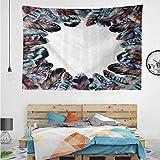 HuaWuChou - Tapiz para Colgar en la Pared, diseño de Jaula de pájaros, poliéster, Estilo-05, W92.5 x L70.9