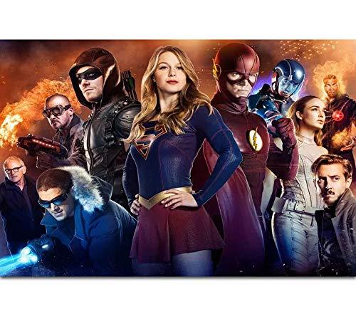 The Supergirl Flash Arrow CW DC TV Series pintura de diamantes 5D DIY bordado de punto de cruz Rhinestone Art Craft imágenes de la película mosaico pintura hogar decoración de la pared