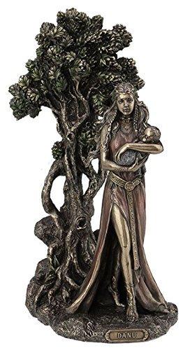 wu Danu Irish Triple Goddess of The Tuatha De Danann Bronze Finish Statue