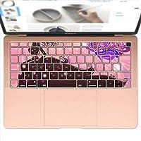 igsticker MacBook Air 13inch 2018 専用 キーボード用スキンシール キートップ ステッカー A1932 Apple マックブック エア ノートパソコン アクセサリー 保護 005423 ラブリー 蝶 人物