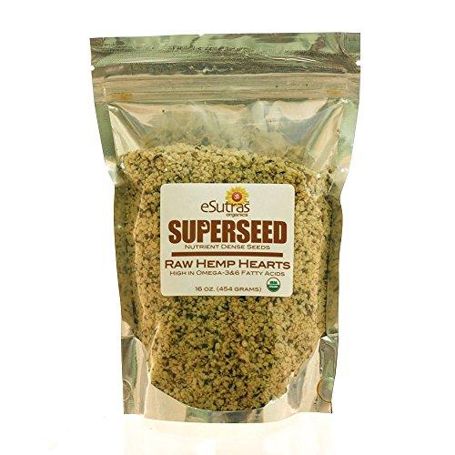 Esutras Organics Raw Hemp Seed Hearts, 16 Ounce New Jersey