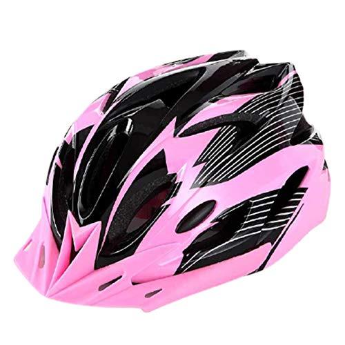 fuchsiaan Fahrradhelm & Ski Helm fur Herren Damen, Erwachsene Atmungsaktiv Leichte Fahrrad Schutzhelm Cap mit Rücklicht, Mountain Road Bike Trekking City Rennradhelme Purple Grey