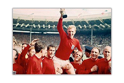 FIFA World Cup 1966 - Póster de Inglaterra, Papel Brillante, 02- A2 = 59.4cm x 42cm