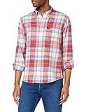 Lee Riveted Shirt Camisa, Aurora Red, XL para Hombre