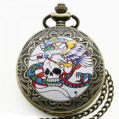 LLDKA zakhorloge nieuwe manier om schedel hangende klok ontwerp klok schaal Gothic charme sieradenhorloge kwarts