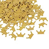 Topoox Gold Glitter Crown Confetti Table Decorations for Prince Baby Shower 1st Birthday P...