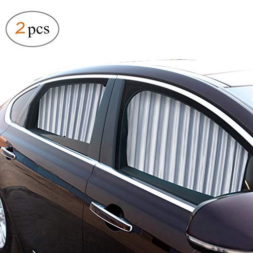 ZATOOTO Parasoles para Coche Sombrillas para Ventanas(2 Piezas), Cortinas Magnéticas para Boquear los Rayos UV y el Calor